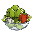 isolated vegetables design vector image vector image