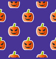 jack o lantern seamless pattern halloween vector image vector image
