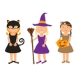Kids Trick or Treating vector image