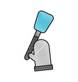 kitchen glove and spatula pastry element vector image