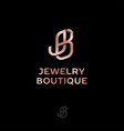 logo j and b jewelry boutique interlocking letters vector image vector image