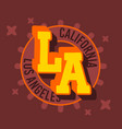 los angeles california label sign logo for t sh vector image vector image