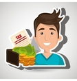 man money currency tax vector image