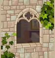 medieval window vector image vector image