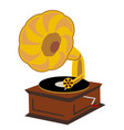 old gramophone isolated on a white background vector image vector image