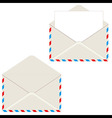 Open envelope with letter vector image