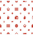 pack icons pattern seamless white background vector image vector image