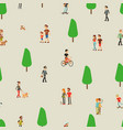 people walking man woman on nature couple and vector image vector image