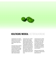Pills isolated on green background vector image vector image