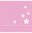 pink background with flowers vector image vector image
