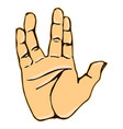 realistic salute vulcan hand gesture icon graphic vector image