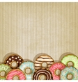 retro background with donut vector image vector image