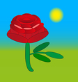 rose flower drawing vector image vector image