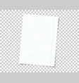 school note book paper with realistic shadow vector image