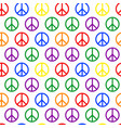seamless pattern with peace sign colored in lgbt vector image vector image