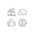 seo devices line icon web targeting sign traffic vector image vector image