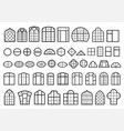 set of classic and modern windows vector image
