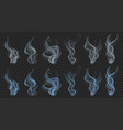 set of smoke vector image