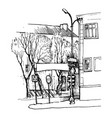 sketch of city street vector image vector image