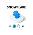 Snowflake icon in different style vector image