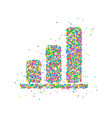 statistics circles icon vector image vector image