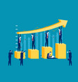 successful business concept business vector image vector image