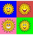 Suns with smile vector image