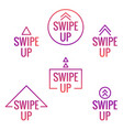 swipe up icon vector image vector image