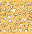 the seamless pattern on the kitchen theme with a vector image vector image