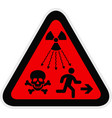 triangular red warning hazard symbol vector image