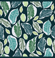 tropical botanical foliage seamless pattern vector image