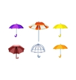 Umbrella isolated icon vector image vector image