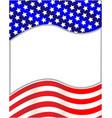 us flag wave pattern frame vector image vector image