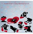 Valentines Day abstract funny background with vector image