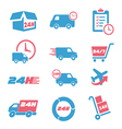 Various postage and support related icon set vector image vector image