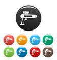 watergun icons set color vector image