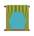 windows with courtain icon vector image vector image