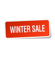 winter sale red square sticker isolated on white vector image vector image