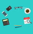 working desk table above with copy space text vector image vector image