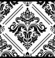 damask seamless background vector image