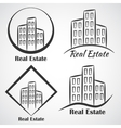 Real Estate company logotype icon vector image