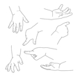 Baby hand different gestures vector image