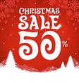 Christmas Sale 50 Percent vector image