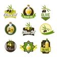 Olive Ild Badges vector image