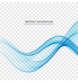 abstract color wave design element blue wave vector image vector image