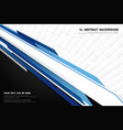 abstract modern technology blue and white vector image vector image