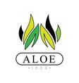 aloe logo natural product badge beauty and vector image