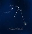 Aquarius constellation in night sky vector image vector image