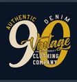 authentic denim vintage vector image vector image