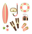 beach holiday design elements summer vector image vector image